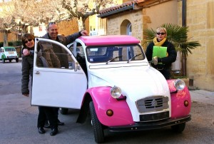business event in 2cv car