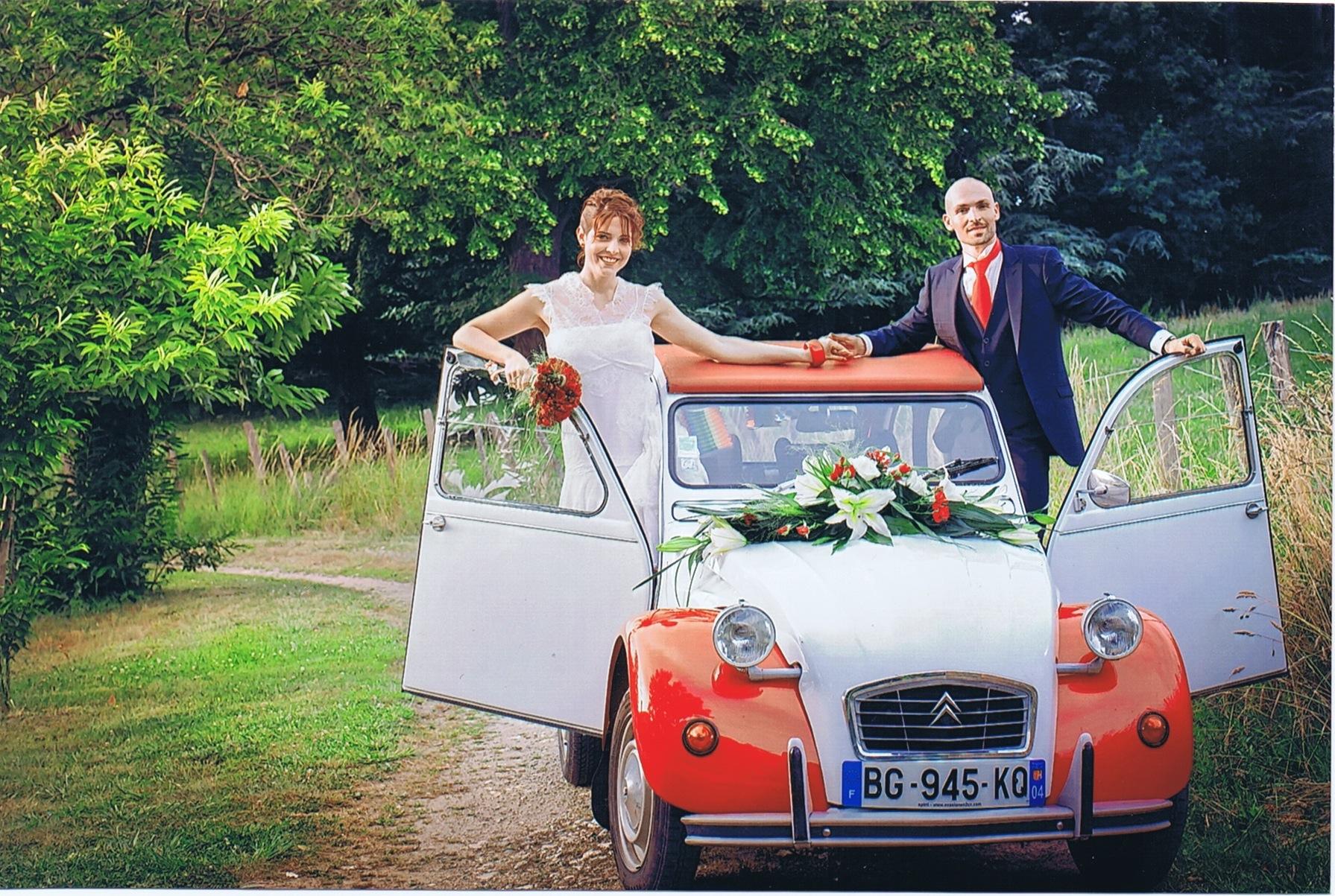 location 2CV mariage