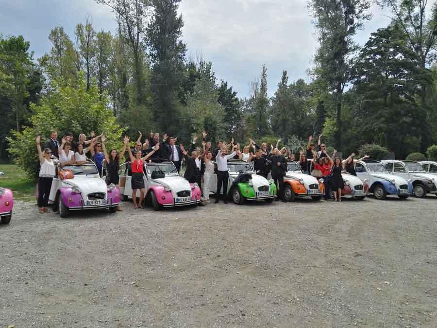 team building entreprise en rallye 2cv