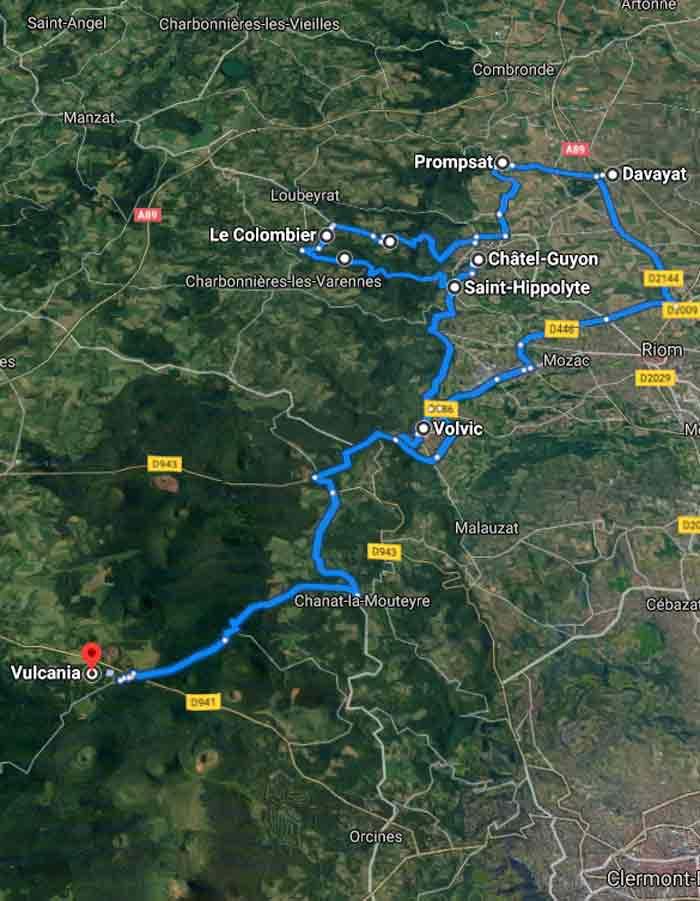 parcours type nord de Clermont-Ferrand