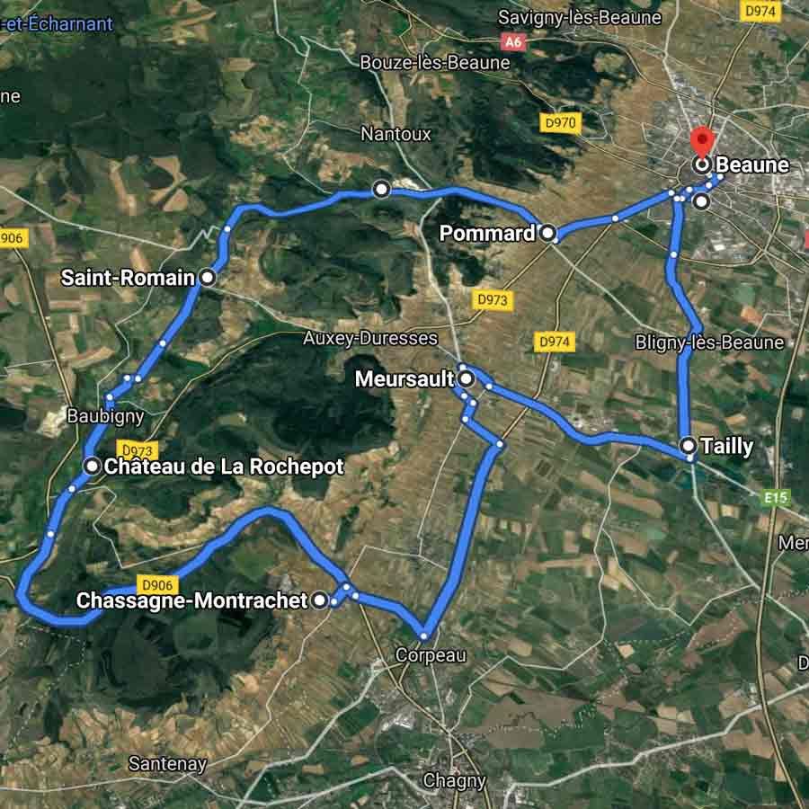 parcours type beaune