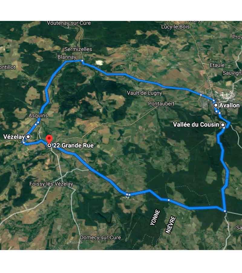parcours type morvan carte